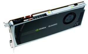 NVIDIA Quadro 4000 for Mac -- top of card on side