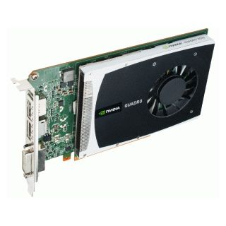 Quadro 2000 - top of card on side
