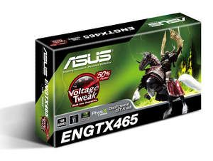 The ASUS ENGTX465 features 'Voltage Tweak' which lets consumers shift their graphics cards into overdrive.