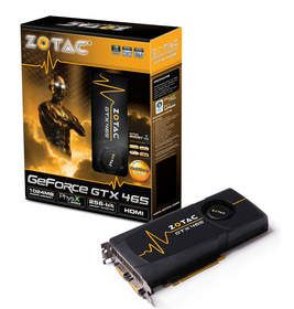 The Zotac GTX 465 features 'Zotac Boost' for additional GeForce accelerated performance.