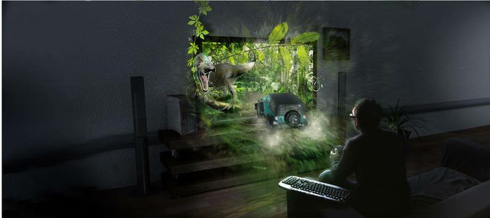 NVIDIA 3DTV Play lets you connect your GeForce-powered PC or notebook to the new full HD 3D TVs, like the Panasonic VIERA, for big-screen gaming excitement!