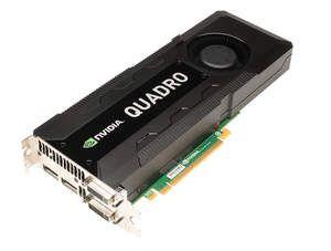 New NVIDIA Quadro K5000 professional graphics card - 3 qtr shot