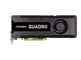 New NVIDIA Quadro K5000 professional graphics card - front shot