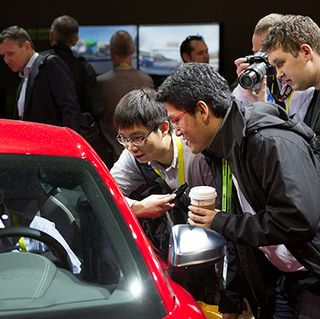 Whole Auto Love: Hot Cars and Cool Demos in Our Booth at CES 2015 (Video)