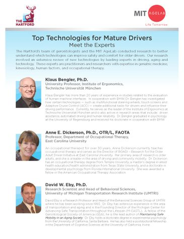 Top Technologies for Mature Drivers: Meet the Experts