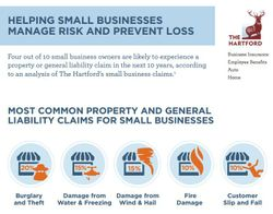 2015 The Hartford Top Property and General Liability Claims Infographic
