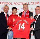 Pictured: Ian Rush, Philippe Coutinho, Nigel Travis, Ian Ayre