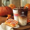 Hot Coffee, Iced Pumpkin Macchiato and Pumpkin Cheesecake Square Horizontal Lifestyle