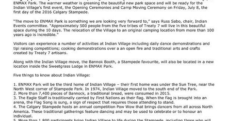Indian Village new location