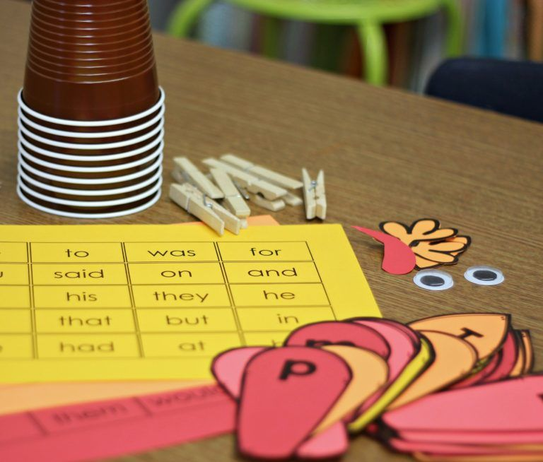 A Differentiated Kindergarten - Thanksgiving Sight Word Activity - 10