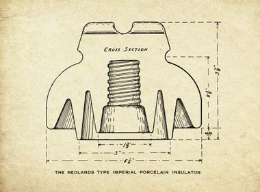 The First Porcelain Insulator