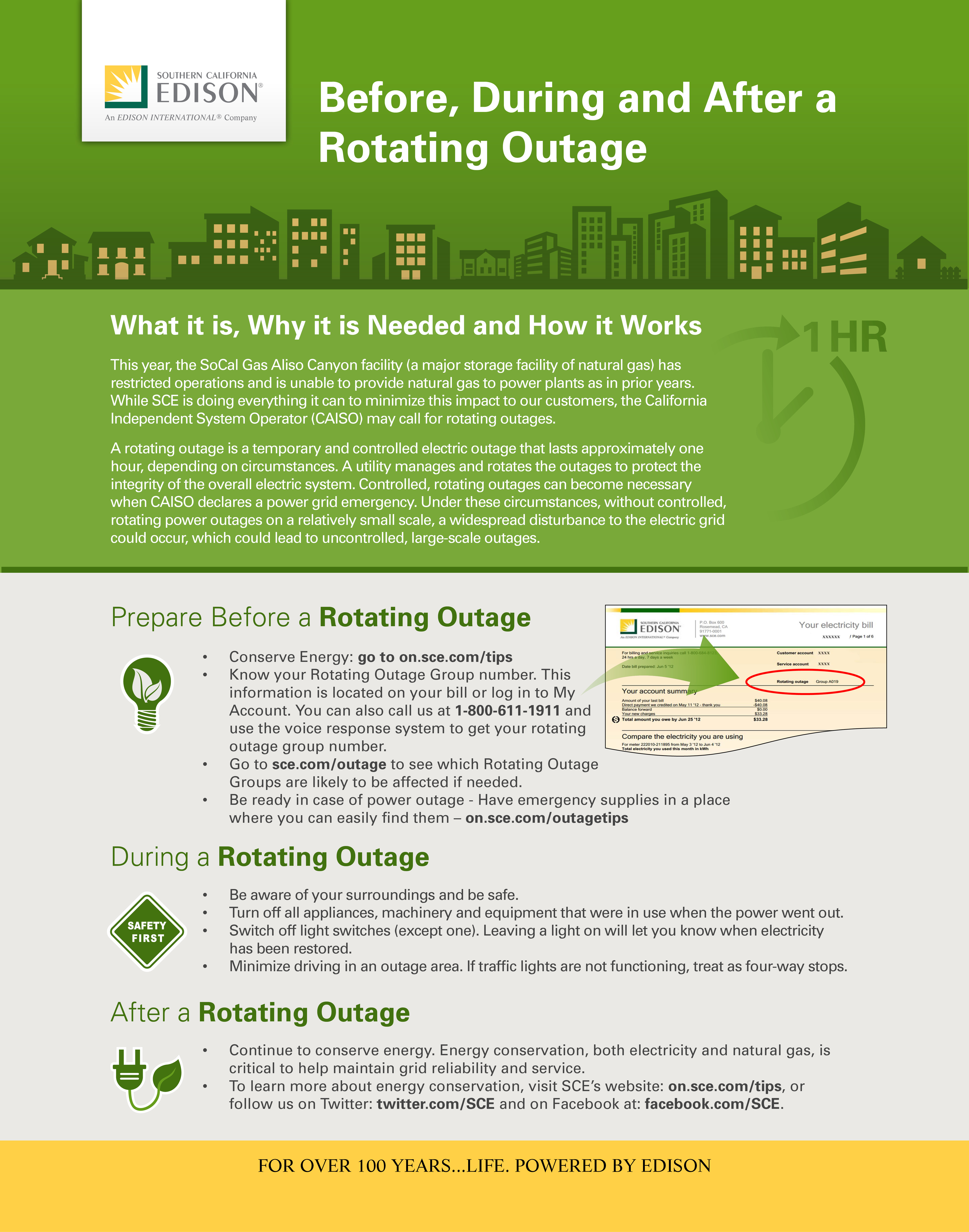 Rotating Outages Infographic