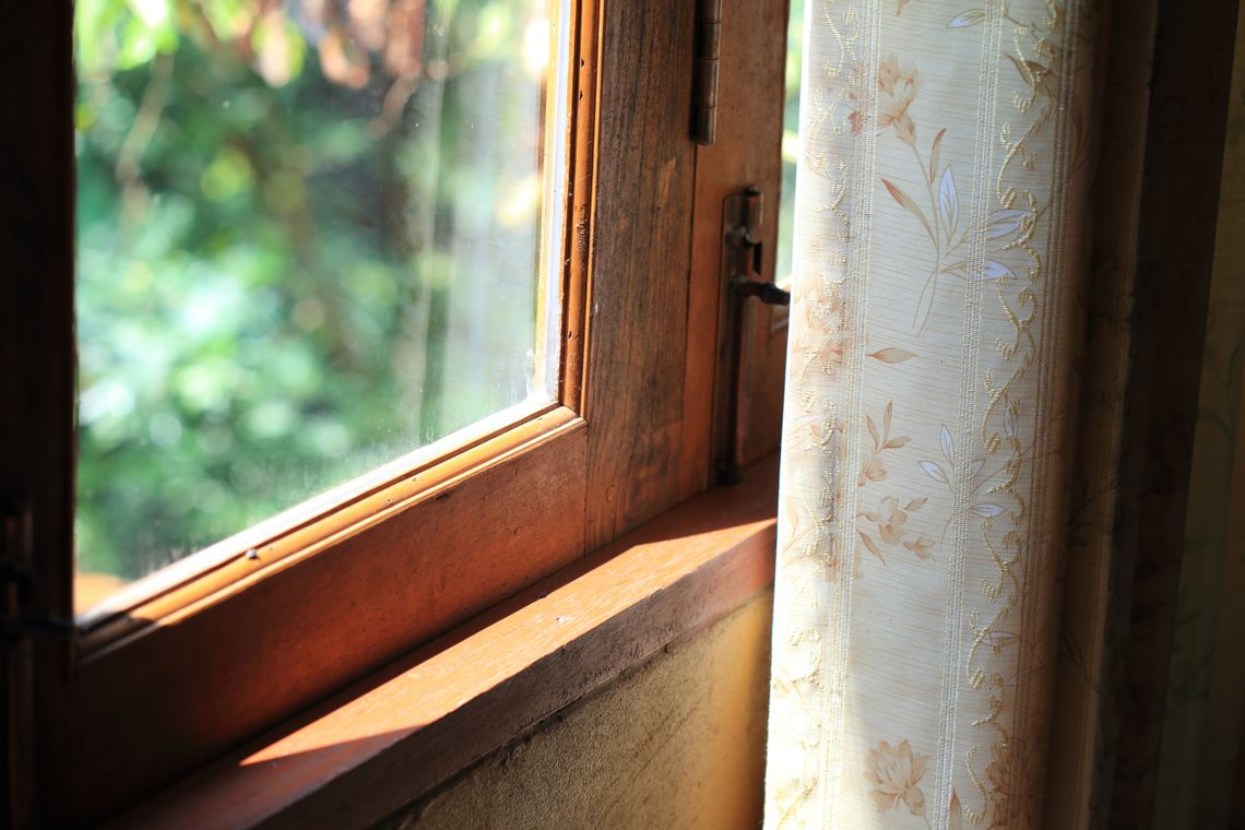 Window and drapes