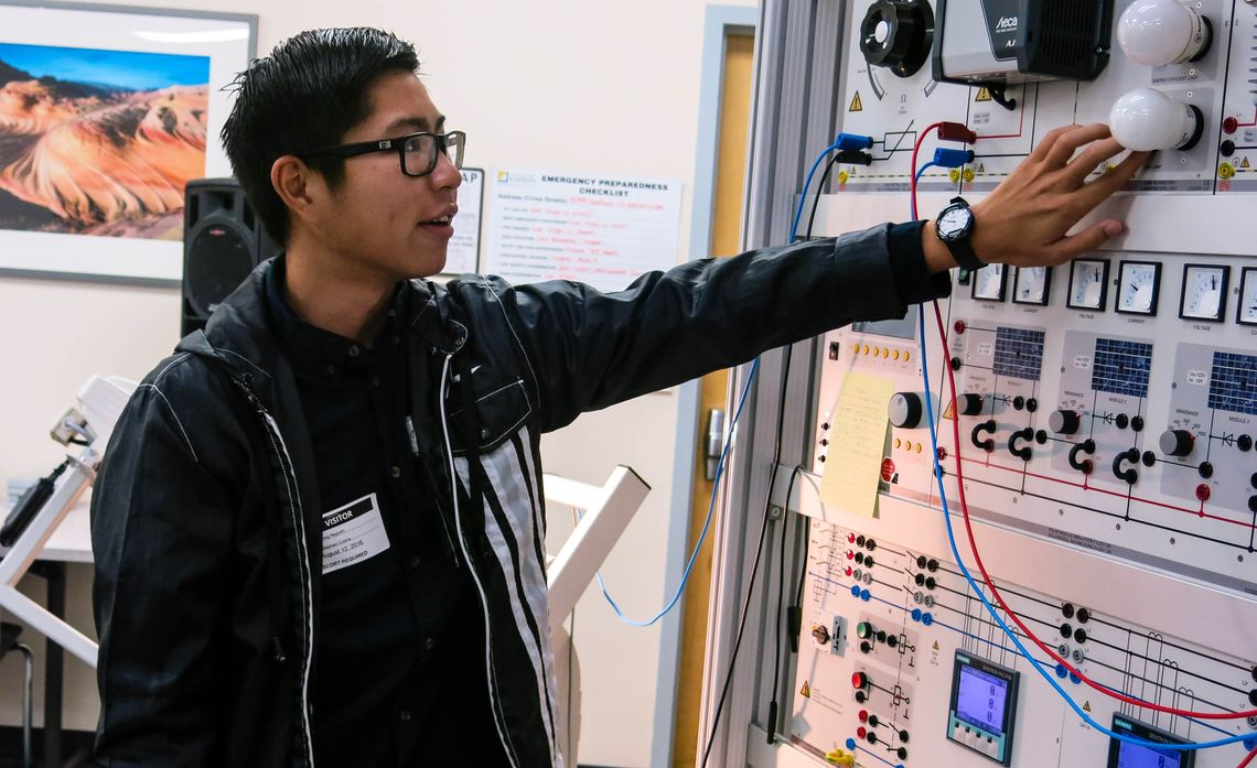 Santa Ana Student Brings Passion for Solar to Alma Mater