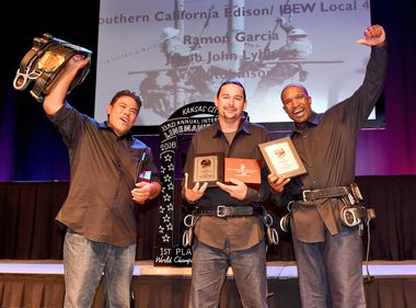 SCE Journeymen Win Overall 1st Place Trophy at Intl. Lineman's Rodeo