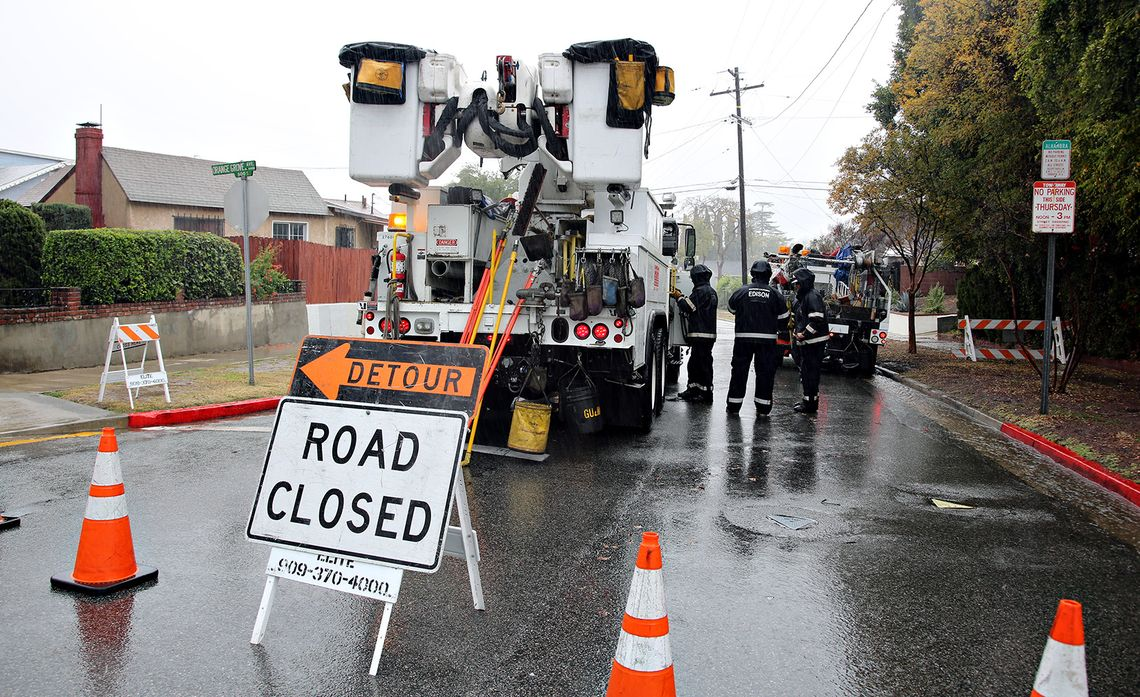 SCE Crews Vigilant as Winter Storms Could Topple Trees, Debris Into Power Lines