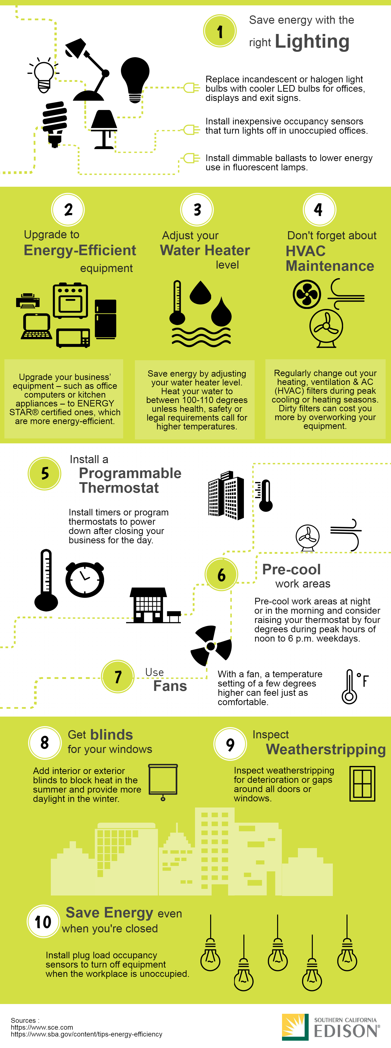 Business Energy Tips infographic