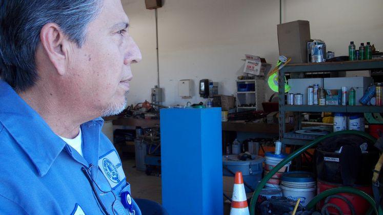 Utilities Employee Oscar Uribe