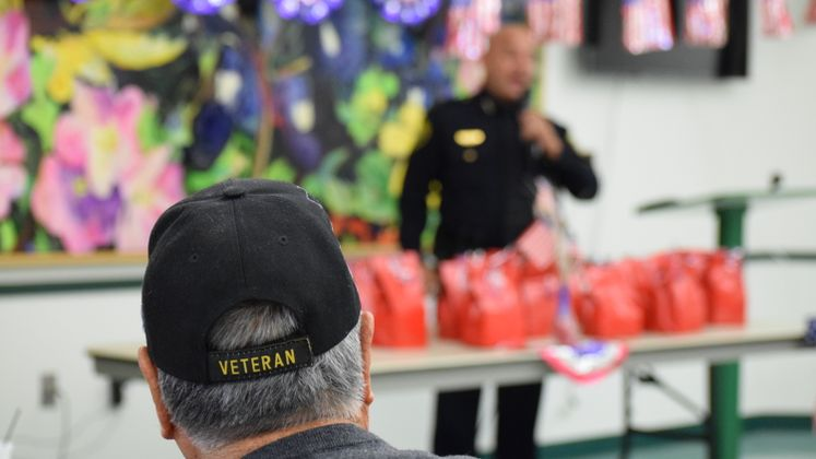 Chief of Police Mike Markle Speaks at a Breakfast Honoring Veterans