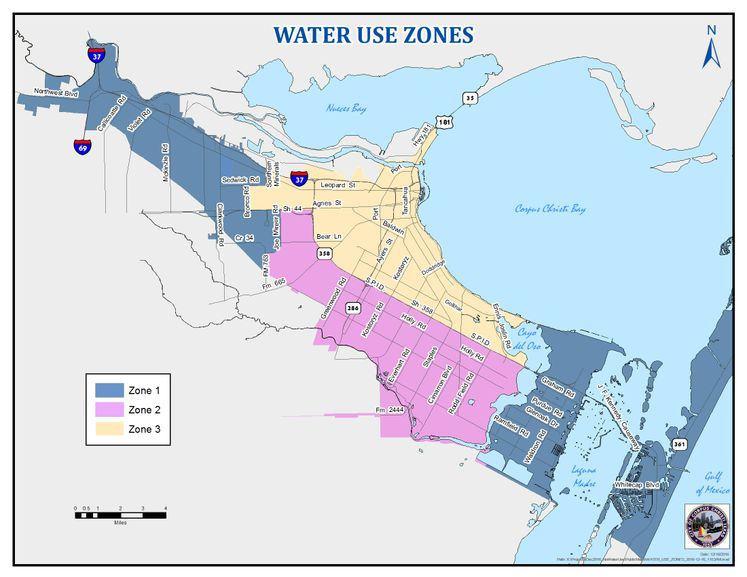 Water use zones 1153