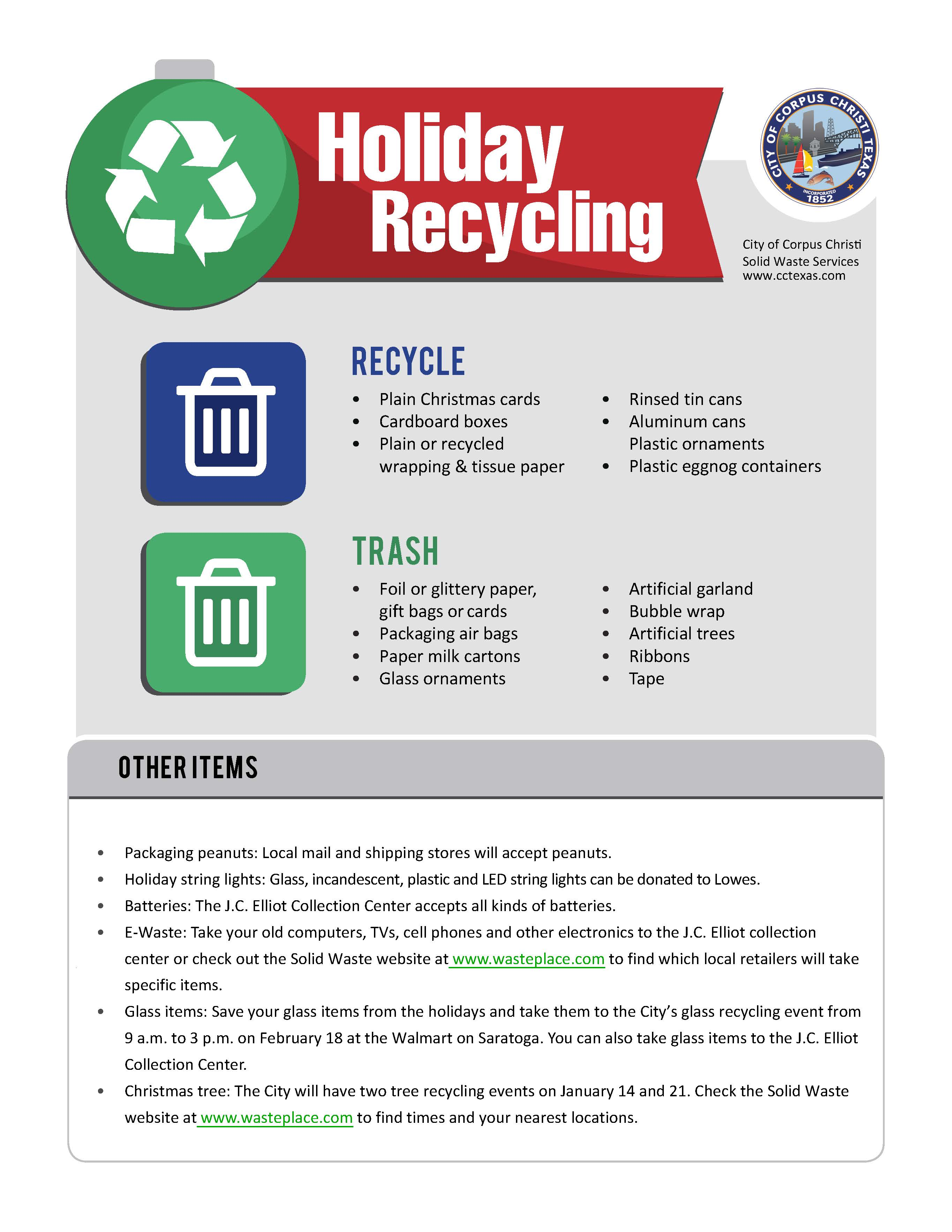 Chrismas Recycling Flyer