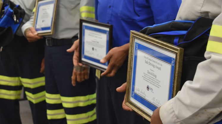 Solid Waste Employees Receive Awards