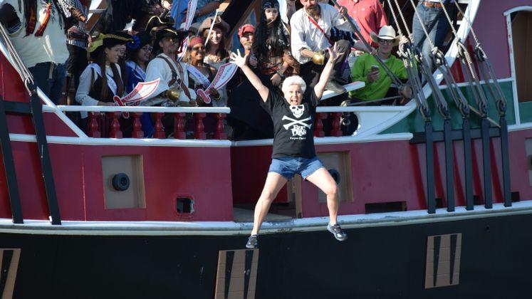 Mayor Nelda Martinez Kicks Off Buc Days with a Splash!