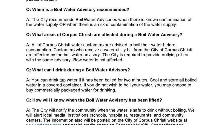 Water Boil FAQ 1