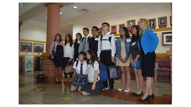 Exchange Students from Sister City Program Toured City Hall
