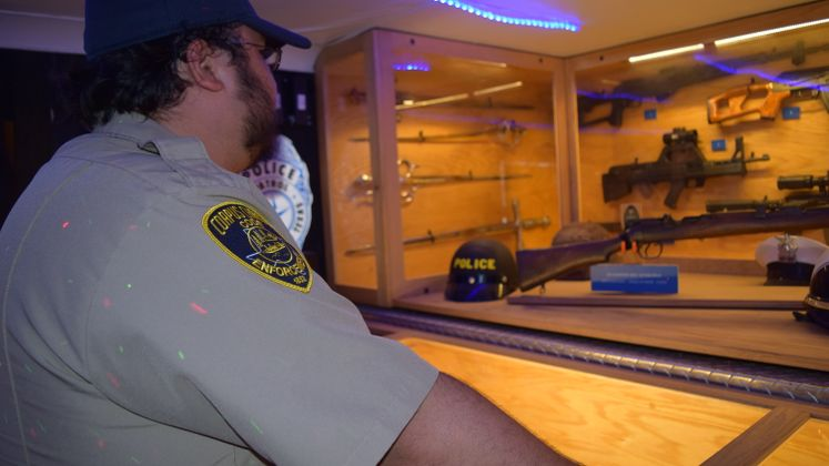Code Enforcement Officer Checks out CCPD's Mobile Museum
