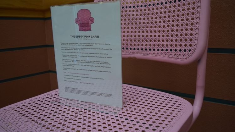 Pink Chair Project at City Hall