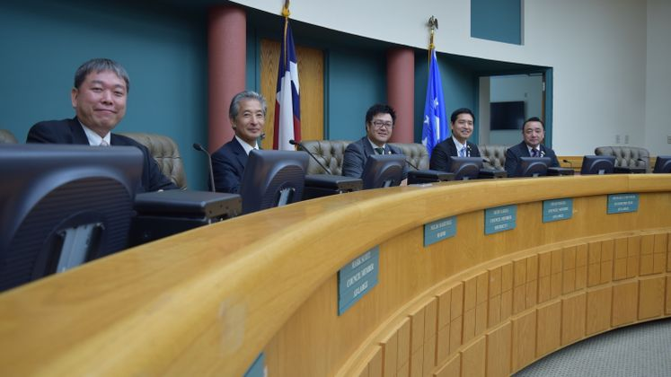 Council Members from Yokosuka Japan visited City Hall as part of the Sister City Program