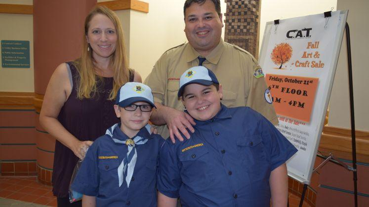 Boys Scouts Tour City Hall