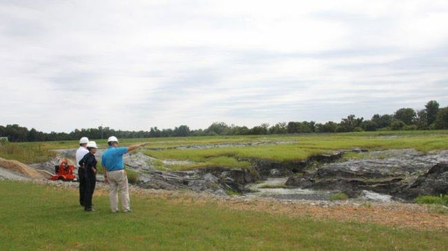 Lynn Good At Dan River Ash Basin