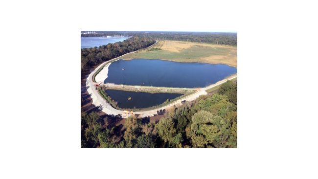 Aerial Photo of the H.F. Lee Coal Ash Basin