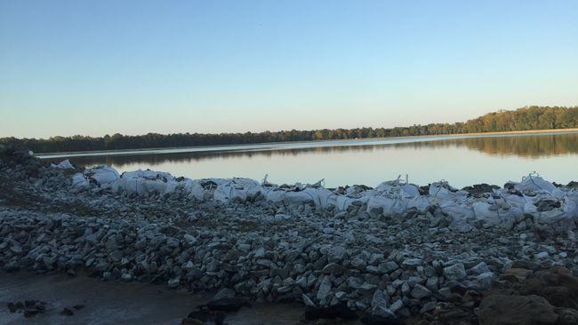 H.F. Lee Cooling Pond Break Repair