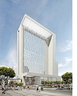 Architect's rendering New San Diego Courthouse