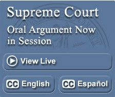 Supreme Court Webcast Button