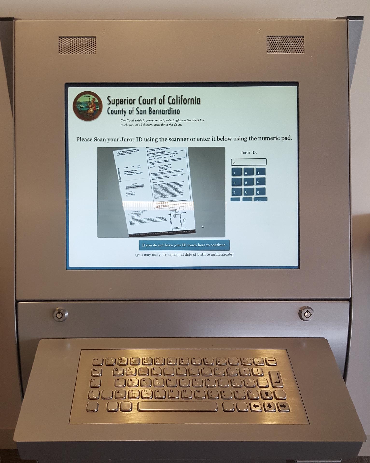 San Bernardino County's Juror Kiosk