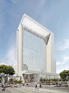 Architect's rendering: New San Diego Courthouse