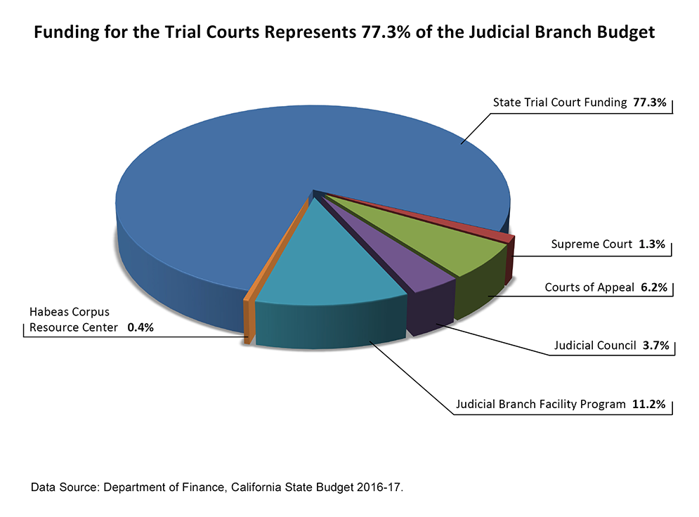 Branch Budget FY16-17 pie graphic