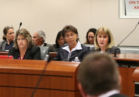 Sherri R. Carter, right, Los Angeles Superior Court executive officer