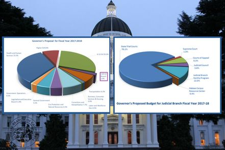 Budget Pie Charts for Proposed Budget 2017-18