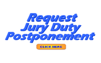 Jury Duty Postponement Graphic