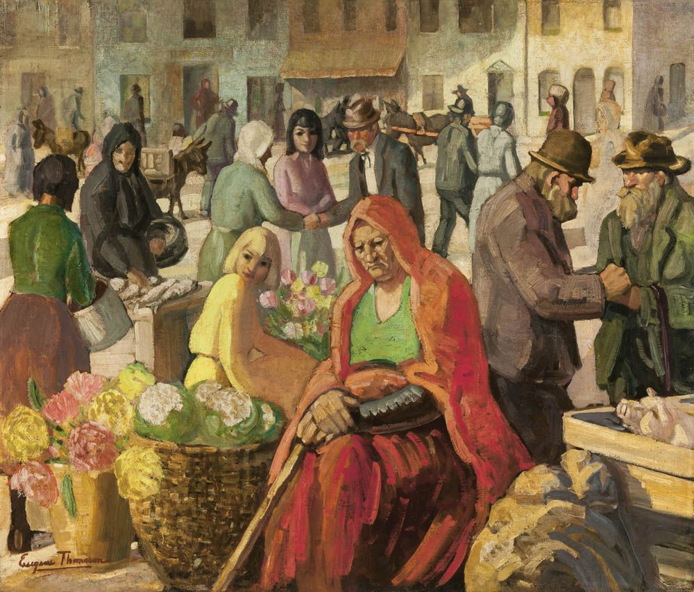 Irish Market Scene, 1929