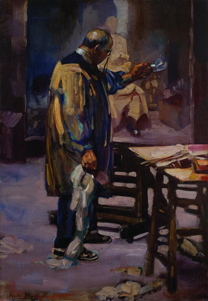 Portrait of George Luks, 1928