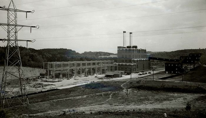Cliffside Steam Station in 1940.