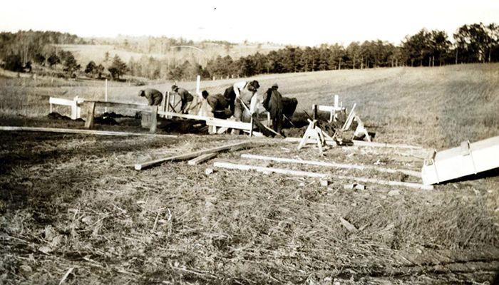 Digging a foundation at Cliffside Village in 1939.