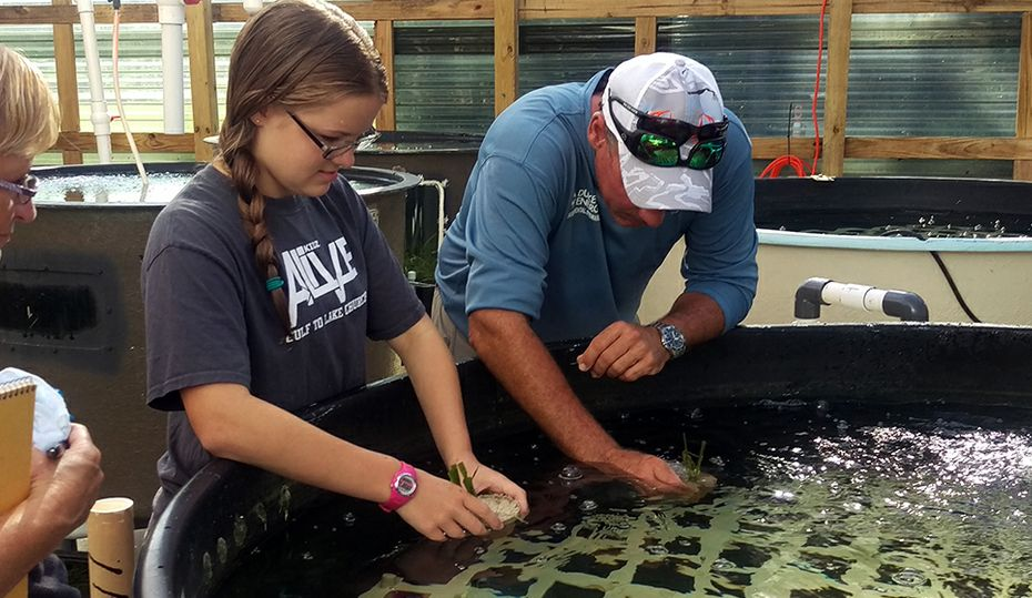 Bubbles the seatrout helps hook kids on science
