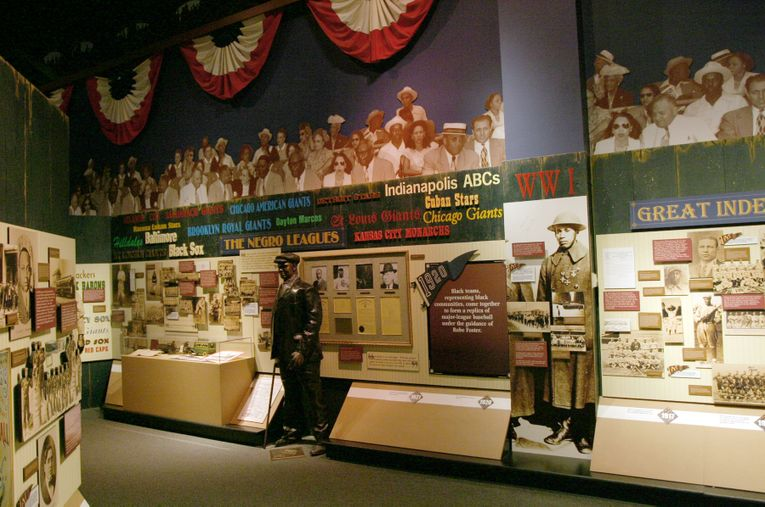 Negro Leagues Baseball Museum, Exhibits